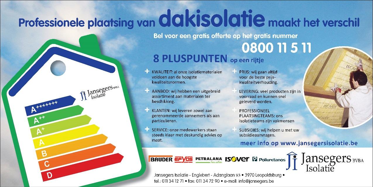 Jansegers Isolatie Plaatsingsdienst Isoleren Van Daken